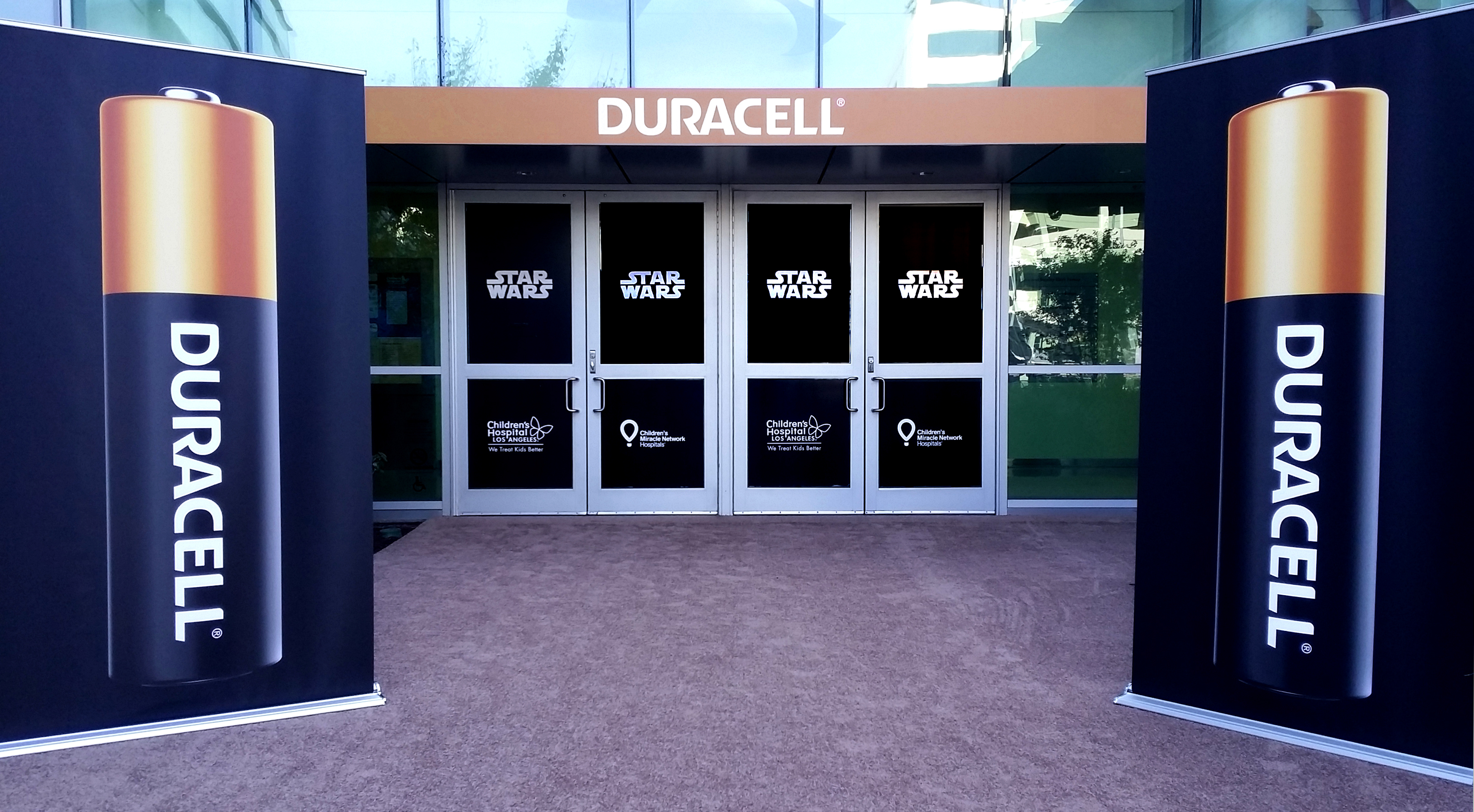 Duracell Battery Entry With Banners And Window Decals