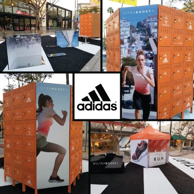 We installed the displays for the 'Greater Every Run' event, sponsored by Adidas and Refinery29 in Santa Monica.