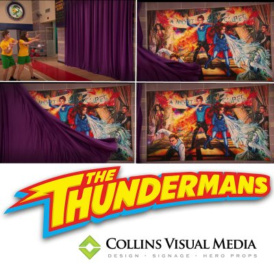 Canvas stretch print for Nickelodeon's The Thundermans.