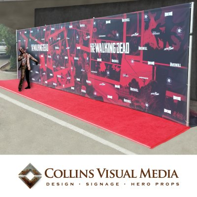 The Walking Dead Media Wall