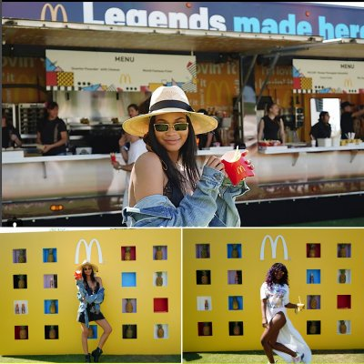 We designed the stage at #Coachella along with the all the #McDonald's menu's and #GoldenArches!