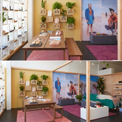 We built this cool pop up shop for Melissa in Venice Beach!