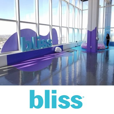 CVM designed, printed, fabricated, and installed this entire job at SKY Studios in Los Angeles for the Bliss event.