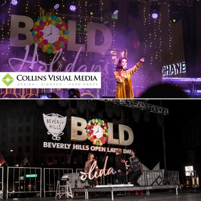 We fabricated and installed a magnitude of stuff for the return of BOLD Holidays celebration!