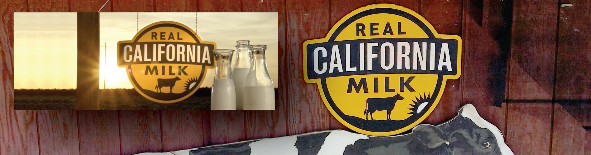Real California Milk sign