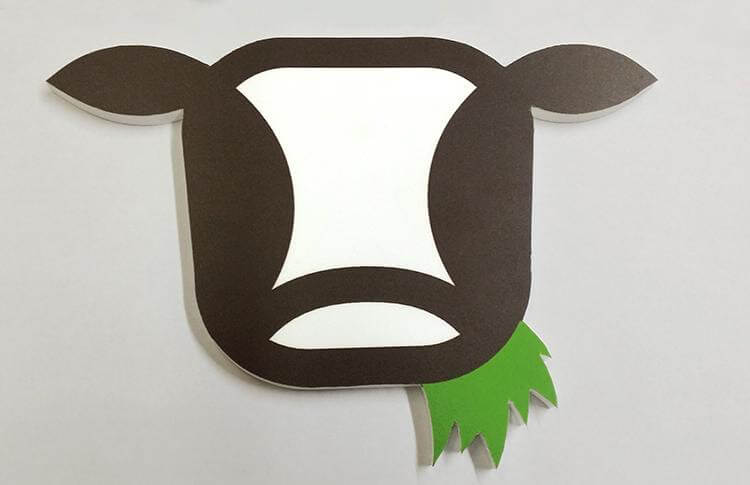 Wooden CNC Cow Head Made Of Sintra Created For Munchkin Grass Fed