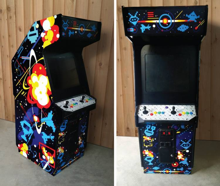 We Wrapped This Arcade Machine With Colorful Graphics For A Letgo Commercial