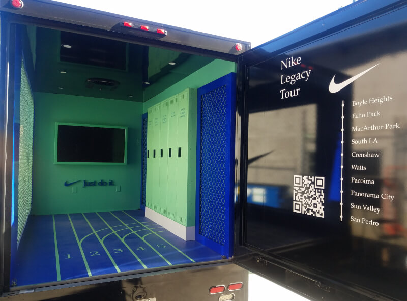 We Vinyl Wrapped The Side Of This Awesome Nike Truck, The Interior Walls, Back Door And Lockers!