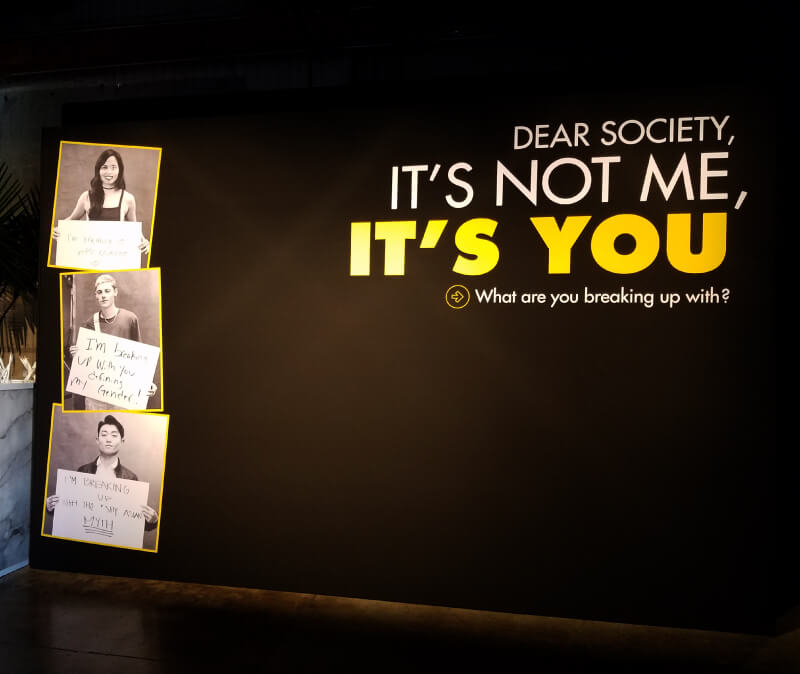 Dear Society Media Wall By Collins Visual Media